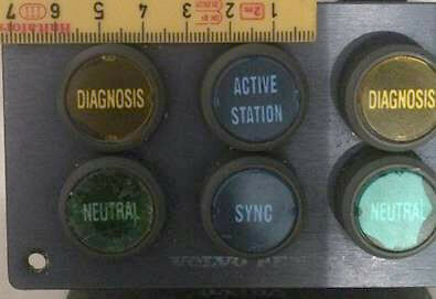 Volvo Penta control panel plastic parts without the letters