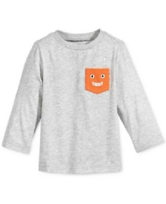 First Impressions Long-Sleeve Graphic-Print T-Shirt Baby Boys Sz 18 Months