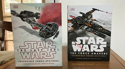 Star Wars The Last Jedi and The Force Awakens Vehicle Cross Section Art Books