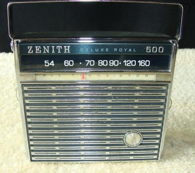 Vintage Zenith Deluxe Royal 500 Radio - All Transistor Working Condition