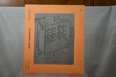 Vintage RCAF Avro CF-100 Aircraft Training Transparency - Refuelling Panel  #1