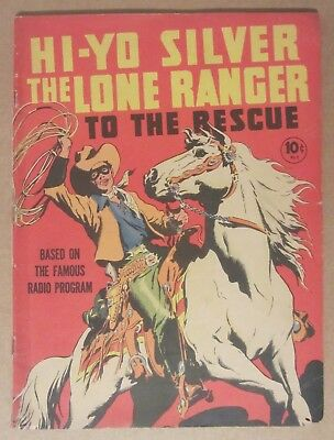 Large Feature Comic #7 the Lone Ranger (Dell 1939) Scarce 3.0..Henry Vallely art