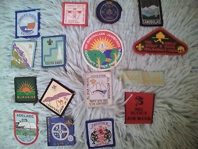 scouts cloth badges patches never used beautiful colours well kept rare 80s jam
