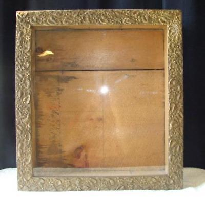 "Victorian Era Funeral Mourning Memorial Shadow Box 23 x 21"" with Orig Glass"