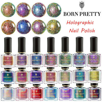 6ml BORN PRETTY Holographic Nail Polish Holo Glitter Laser Nail Varnish