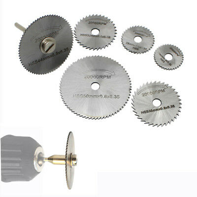 7Pcs 22-50mm HSS Saw Disc Wheel Cutting Blades For Dremel Drills Rotary Tool【UK】