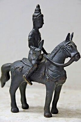Very Old South East Asian Bronze Warrior On Horseback - Extremely Rare - L@@k
