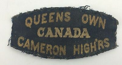 RARE QUEENS OWN CAMERON HIGHLANDERS WW2 Canada WWII shoulder patch