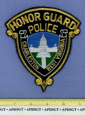 CHARLESTON HONOR GUARD WEST VIRGINIA Police Patch CAPITOL BUILDING GOLD MYLAR