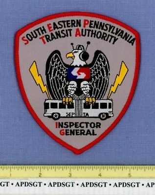 SEPTA INSPECTOR GENERAL PENNSYLVANIA Train Transit Authority Police Patch BUS