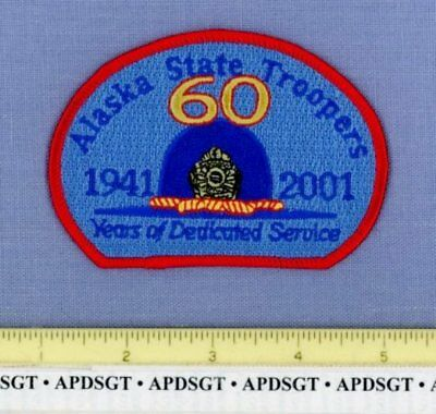 ALASKA STATE TROOPERS 60th ANNIVERSARY COMMEMORATIVE Sheriff State Police Patch