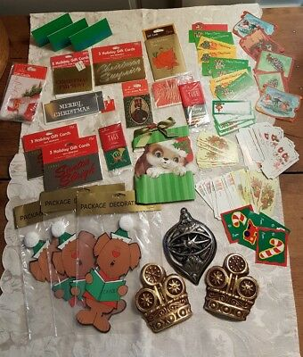 Vintage Christmas Gift Tags Gift Tag Cards Lot 70s 80s Hallmark Gibson Lawrence