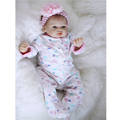 Newborn Baby Dolls Vinyl Silicone Lifelike Newborn Doll Model DIY 22''