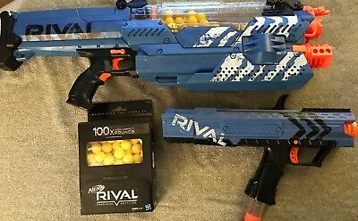 Nerf Rival Nemesis MXVII-10K, Blue, Plus XV-700 and 100+ Rounds Ammo