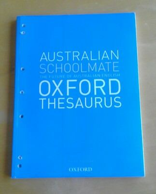 Australian Schoolmate Oxford Thesaurus by Anne Knight Third Edition Paperback