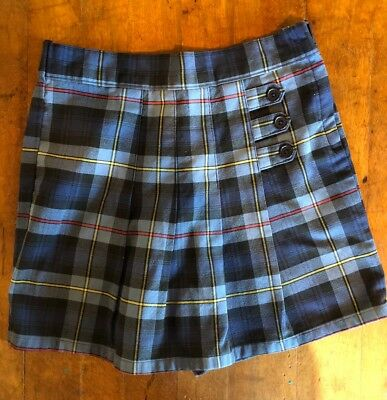 a32687a91d French Toast School Uniform Pleated Skort with Tabs Blue Red Plaid Girls  Size 6X