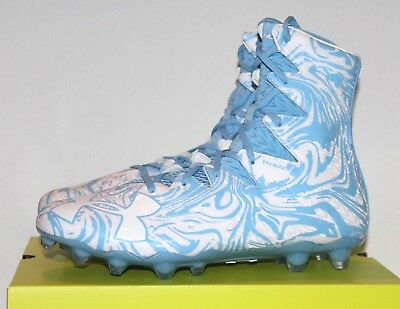 $130 NEW Under Armour UA Highlight LUX MC Football Cleats White Blue 1297953-413