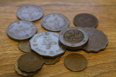 Bulk Lot of 14 Coins From Hong Kong