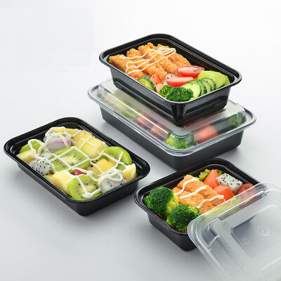 AU Meal Prep Food Containers Microwave BPA Free Plastic Lunch Box Stackable Lids