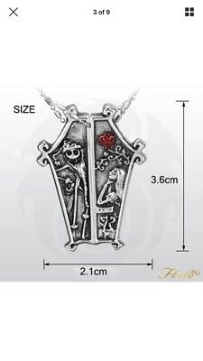The Nightmare Before Christmas Jack Sally Couple Pendant Necklace Jewelry Gift