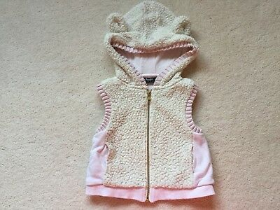 Pre-loved Bardot Junior Girl Vest with Hood, Size 3
