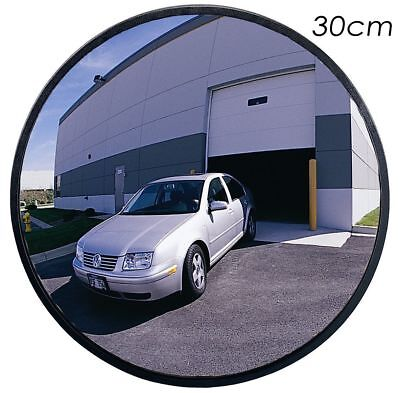 30cm Wide Angle Security Convex Road Mirror Traffic Driveway Safety +Bracket