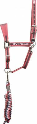 HV POLO Headcollar and Rope Favouritas Rouge Full F/S  B-Ware Note 1