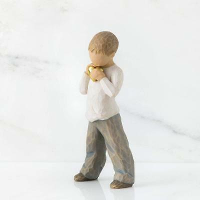 Little Boy Ornament Figurine Decoration Gift Idea Heart Of Gold SON Willow Tree
