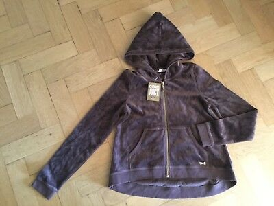 NWT Juicy Couture New & Genuine Girls Age 10 Brown Velour Hoody With Gold Logo