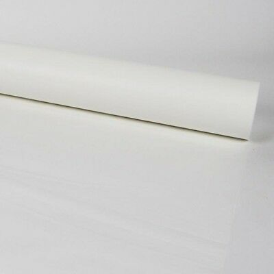80cm FROSTED WHITE CELLOPHANE FILM Plain Coloured Flower Gift Hamper Wrap