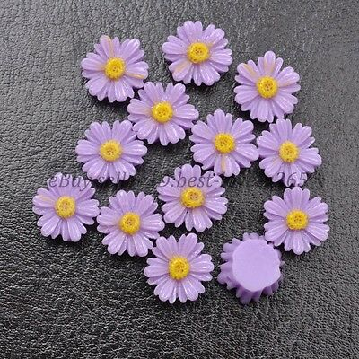 20pcs Purple Gorgeous Sunflower Coral Resin Spacer Beads 12MM