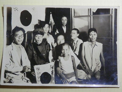 WW2 Japanese Army The family picture of the going to the front soldier.Very Good