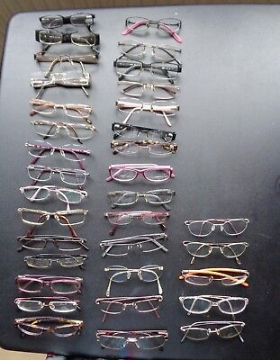 759f3b67b6 34 pairs USED reading glasses MOSCHINO PRADA ARMANI DIOR bundle job lot    JOBLOT