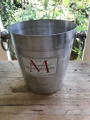Vintage French Champagne Bucket MON TAUDON Label