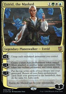 Estrid, the Masked FOIL (normal Version) | NM/M | Commander 2018 | Magic MTG
