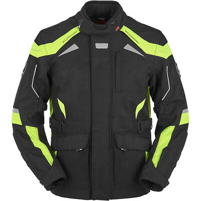 Furygan Waterproof Armoured Jacket WR-16, Black/Yellow Fluo, Size S