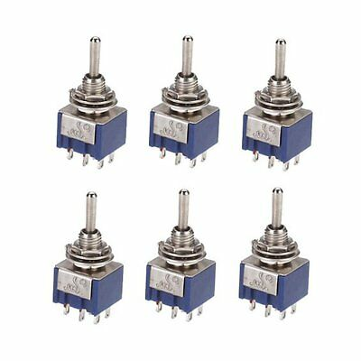 6 pieces On-off-on 3-way mini Toggle switch 6 pin 6A 125VAC U1C5
