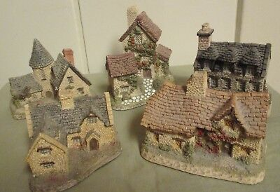 Lot of 5 Vintage Signed 1980's David Winter Cottages -Made in England