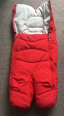 Stokke Red Xplory Split Leg Footmuff. Immaculate Condition