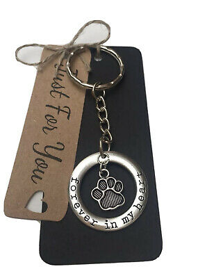 Loss Of A Dog/ Cat Best Friend • Forever In My Heart Memorial Keyring Keepsake