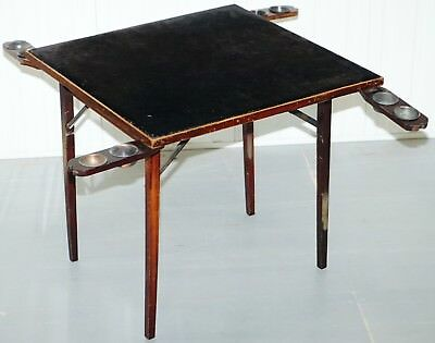Lovely Vintage Edwardian Folding Card Table Fully Stamped Registered X Trademark