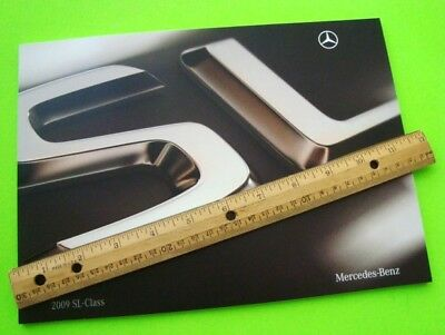 2009 Mercedes Benz SL ROADSTER CATALOG Brochure COLOR CHIPS 50-p SL 600 V-12 AMG