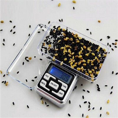 500g x 0.1g Digital Scale Jewelry Gold Herb Balance Weight Gram LCD Silver