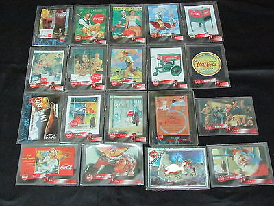 Used 19 Coca Cola trading cards from Sprint Phone Cards/Cels'96
