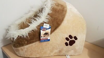New TRIXIE Cuddly Cave Bed Warm Igloo BEIGE for Cat Kitten or Puppy