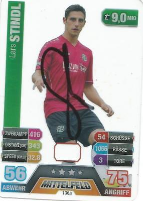 MATCH-ATTAX-CARDS-14/15-STINDL-136 a--HANNOVER 96---ORIG.SIGN.
