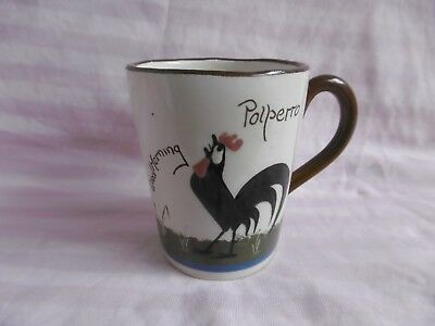 ST MARY CHURCH  Torquay Motto Ware - Pottery MUG  - COCKEREL   - Polperro