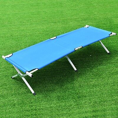 Portable Aluminum Heavy Duty Folding Hiking Camping Cot Bed with Bag Outdoor US