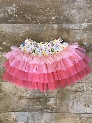 Matilda Jane circle tutu skirt pink ombre popsicle size 6