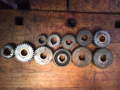 MACHINIST TOOLS Gears LATHE MILL Machinist Lot of Gears Various Centers 11 PC